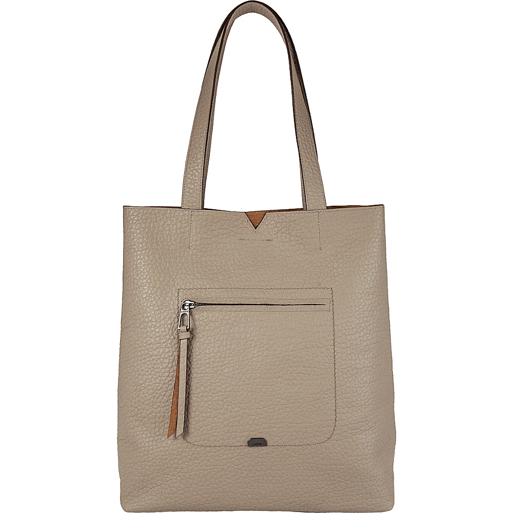 Lodis Borrego Under Lock and Key Madia Large Tote Taupe - Lodis Leather Handbags - Handbags, Leather Handbags