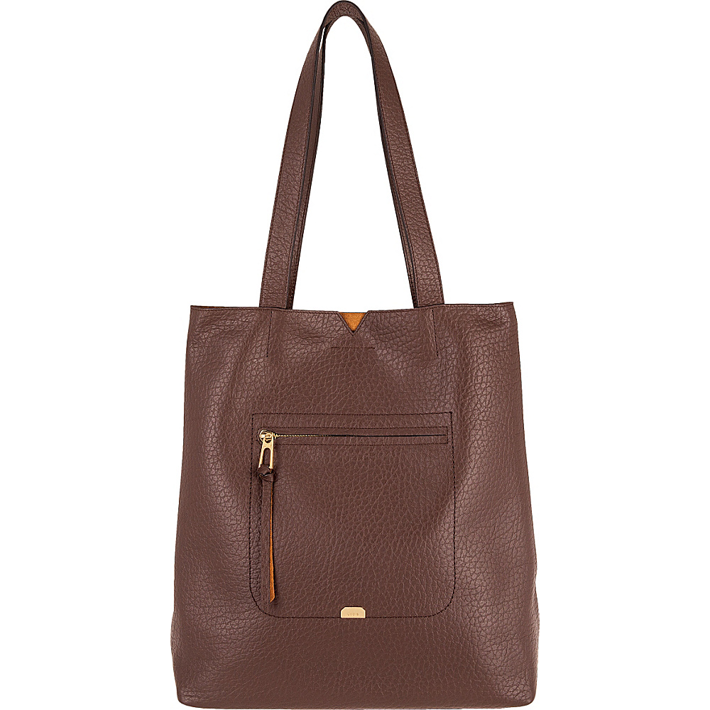 Lodis Borrego Under Lock and Key Madia Large Tote Dark Brown - Lodis Leather Handbags - Handbags, Leather Handbags