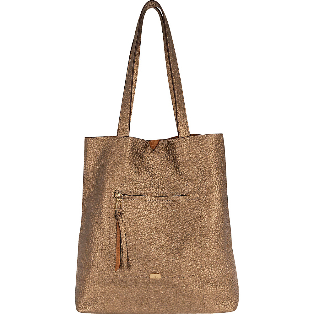 Lodis Borrego Under Lock and Key Madia Large Tote Bronze - Lodis Leather Handbags - Handbags, Leather Handbags