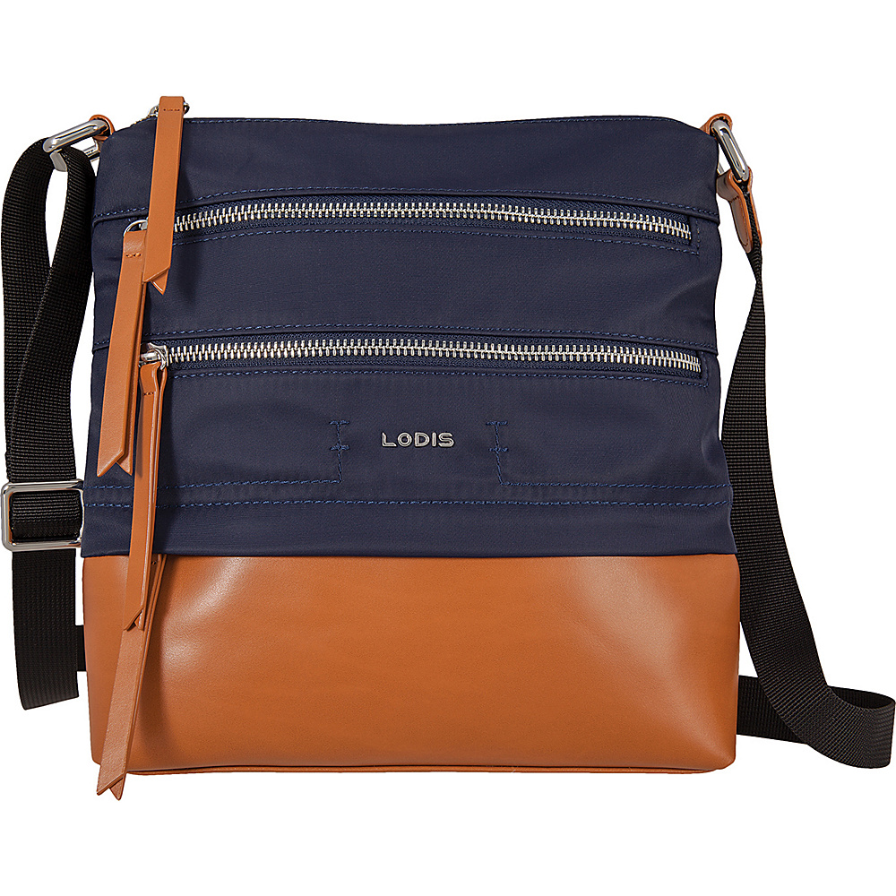 Lodis Kate Nylon Under Lock and Key Wanda Travel Crossbody Navy - Lodis Fabric Handbags - Handbags, Fabric Handbags