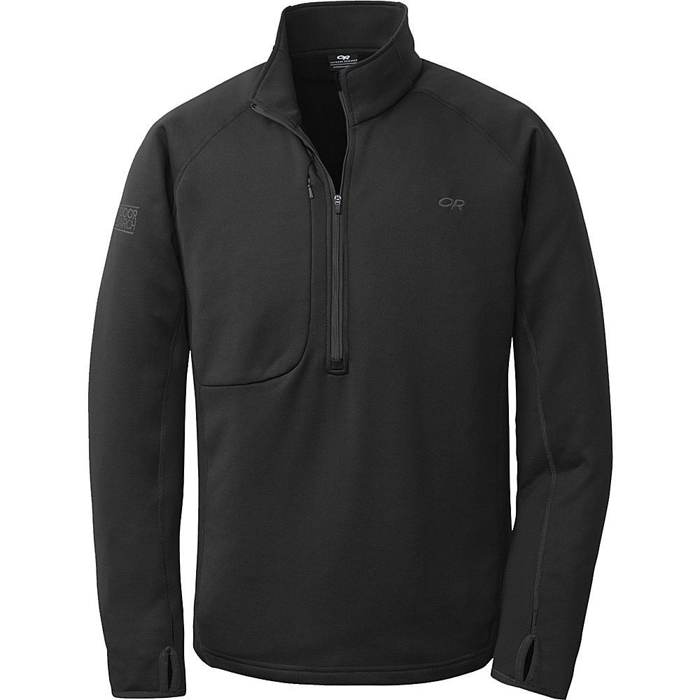 Outdoor Research Radiant Hybrid Pullover S - Black - Outdoor Research Mens Apparel - Apparel & Footwear, Men's Apparel