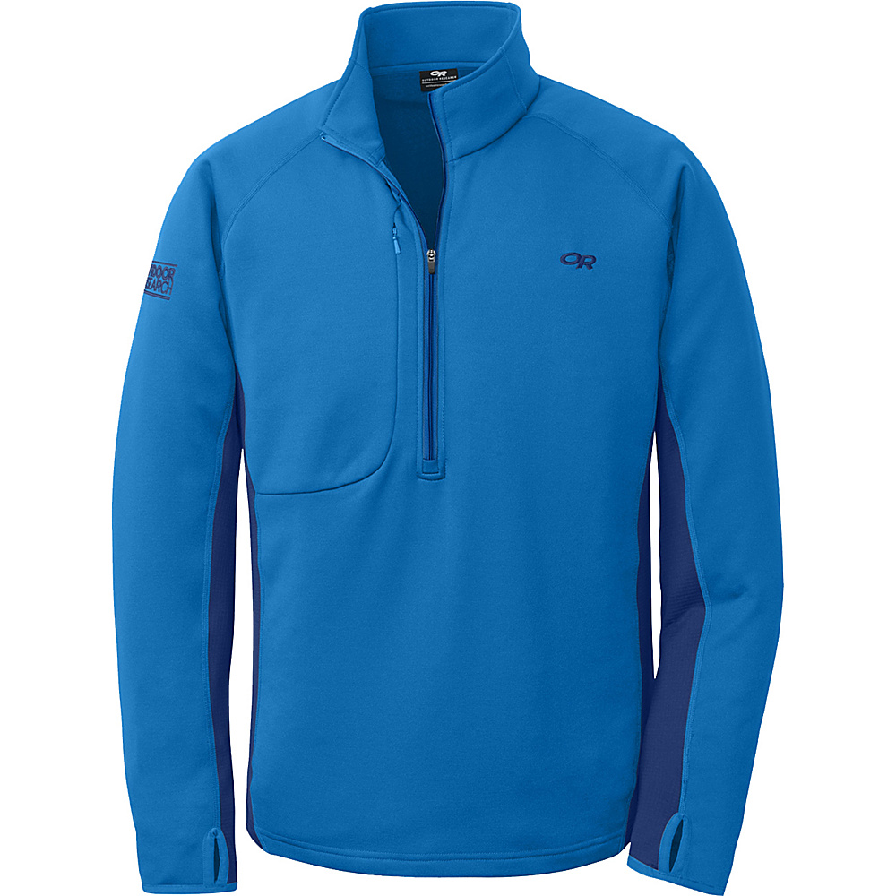 Outdoor Research Radiant Hybrid Pullover S - Glacier/Baltic - Outdoor Research Mens Apparel - Apparel & Footwear, Men's Apparel
