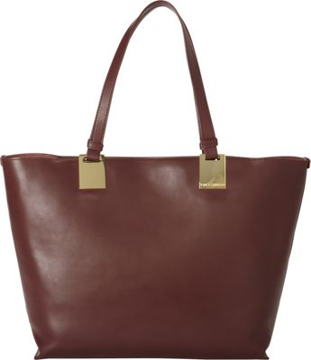 Vince Camuto Keena Tote Black Cherry - Vince Camuto Designer Handbags