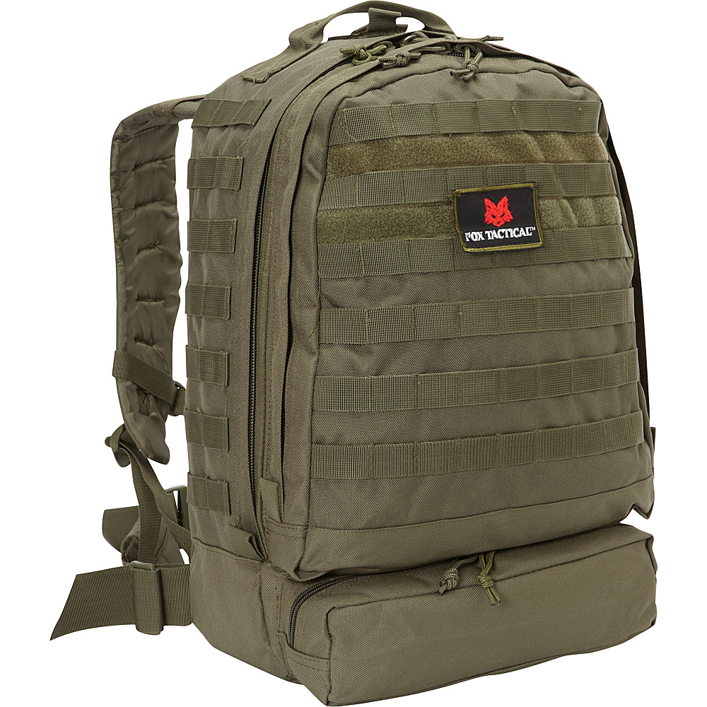 Fox Outdoor 3 Day Assault Pack Olive Drab Fox Outdoor Day Hiking Backpacks
