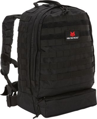 Fox Outdoor 3-Day Assault Pack Black - Fox Outdoor Day Hiking Backpacks