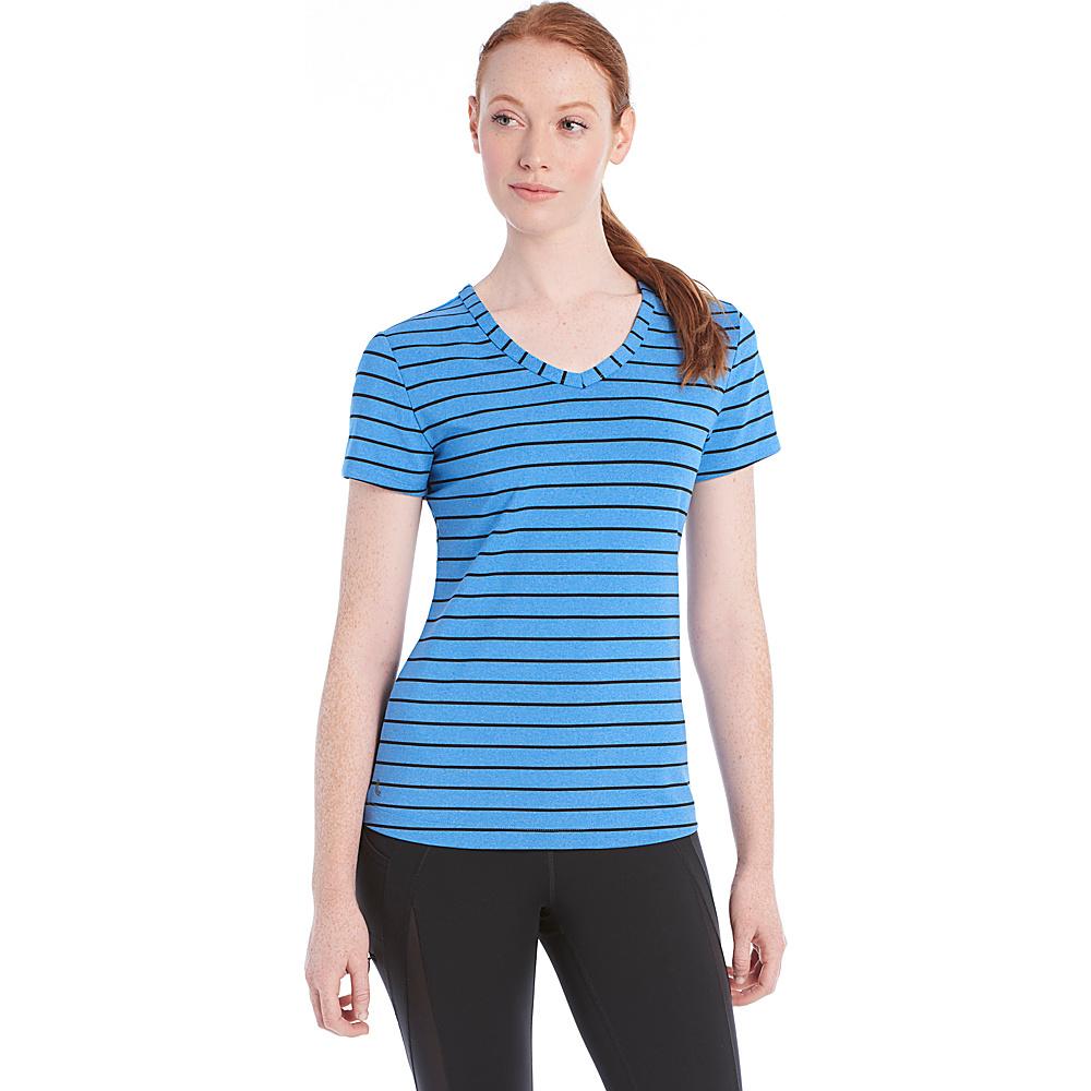 Lole Curl Top XL - Electric Blue Stripe - Lole Womens Apparel - Apparel & Footwear, Women's Apparel