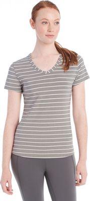 Lole Curl Top S - Medium Grey Stripe - Lole Women's Apparel