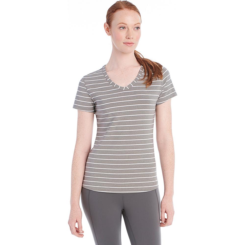 Lole Curl Top S - Medium Grey Stripe - Lole Womens Apparel - Apparel & Footwear, Women's Apparel