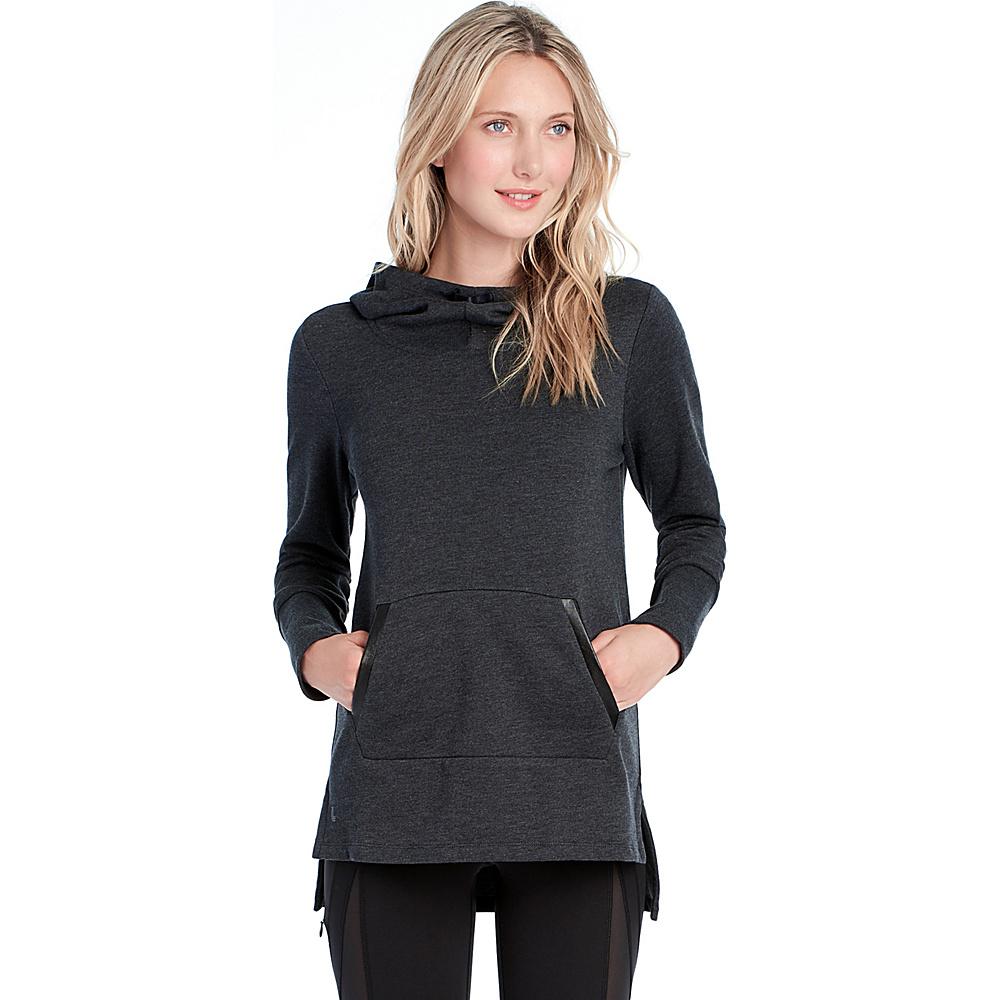 Lole Gali Hooded Tunic S - Black Heather - Lole Womens Apparel - Apparel & Footwear, Women's Apparel