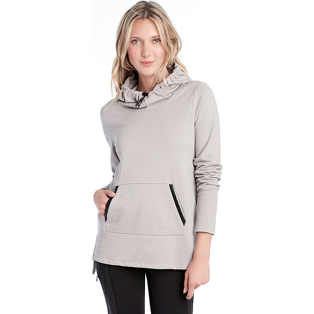 Lole Gali Hooded Tunic L - Warm Grey Heather - Lole Womens Apparel - Apparel & Footwear, Women's Apparel