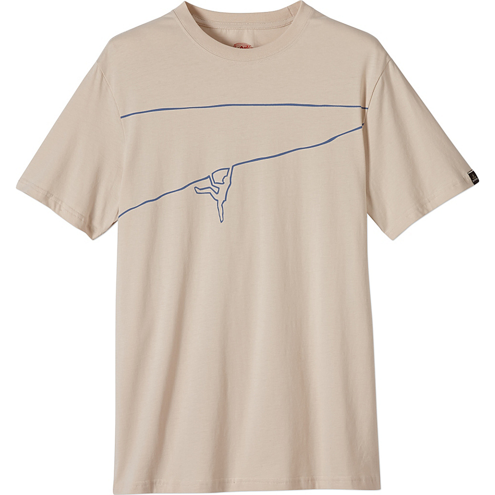PrAna Climb The Line Tee 2XL - Stone - PrAna Mens Apparel - Apparel & Footwear, Men's Apparel