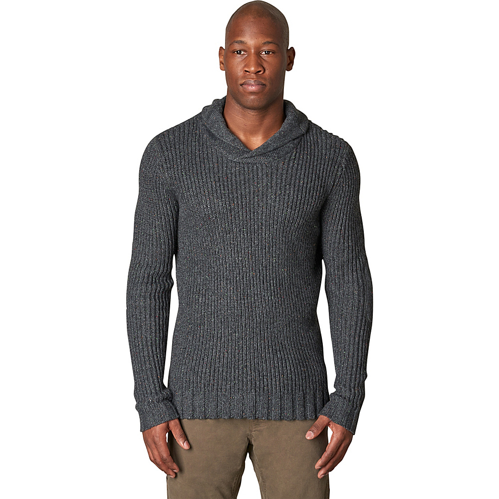 PrAna Onyx Sweater L - Charcoal - PrAna Mens Apparel - Apparel & Footwear, Men's Apparel