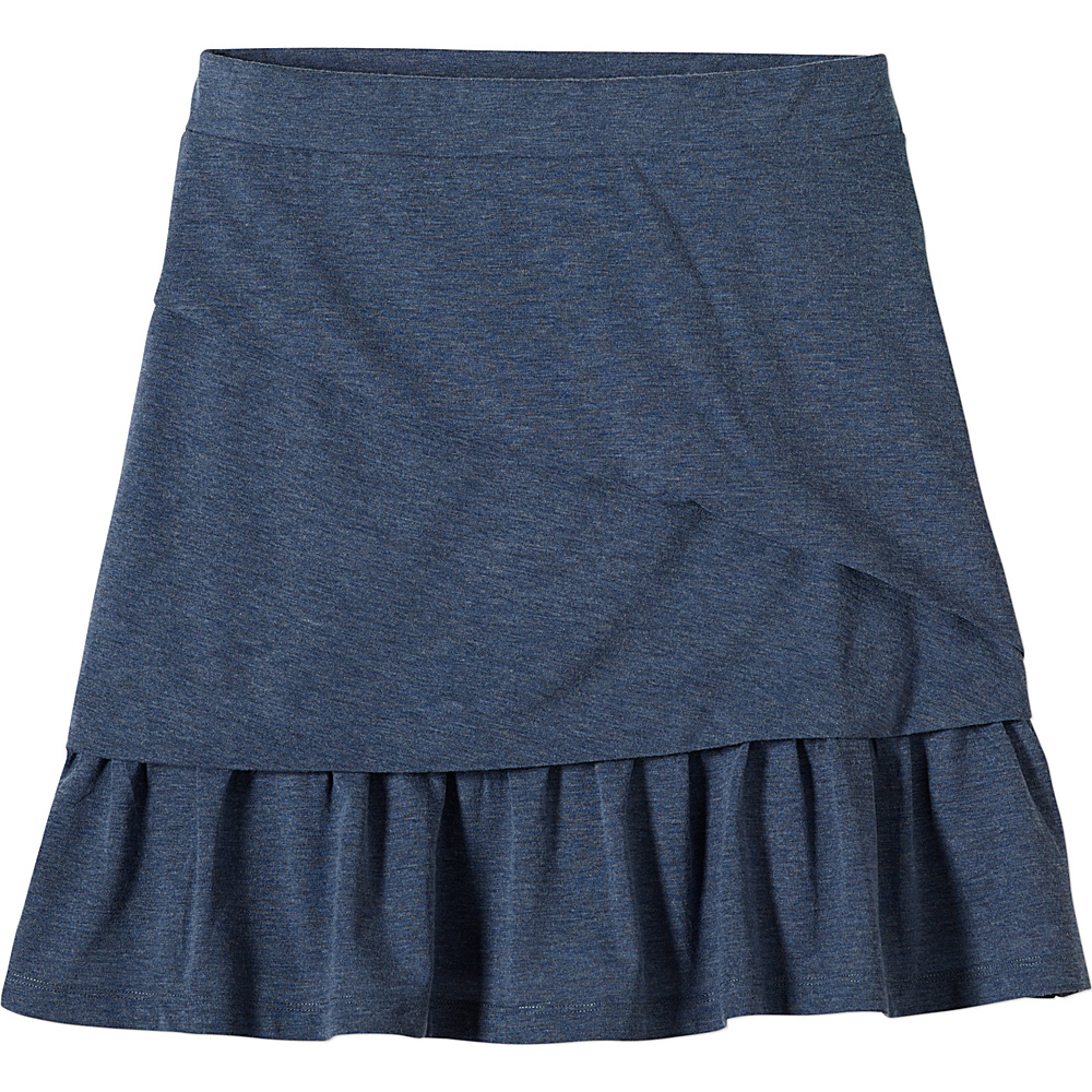 PrAna Leah Skirt S - Gray Indigo - PrAna Womens Apparel - Apparel & Footwear, Women's Apparel