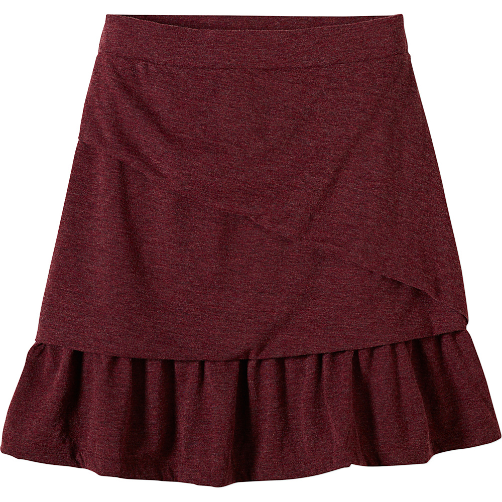 PrAna Leah Skirt L - Burgundy - PrAna Womens Apparel - Apparel & Footwear, Women's Apparel