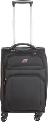 Andare Buenos Aires 20 inch 4 Wheel Spinner Upright Black - Andare Softside Carry-On