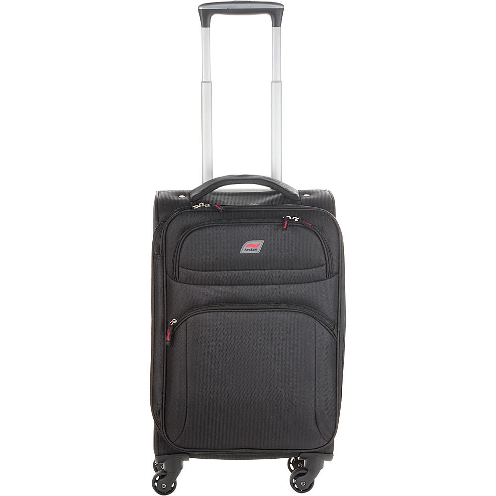 Andare Buenos Aires 20 4 Wheel Spinner Upright Black Andare Softside Carry On