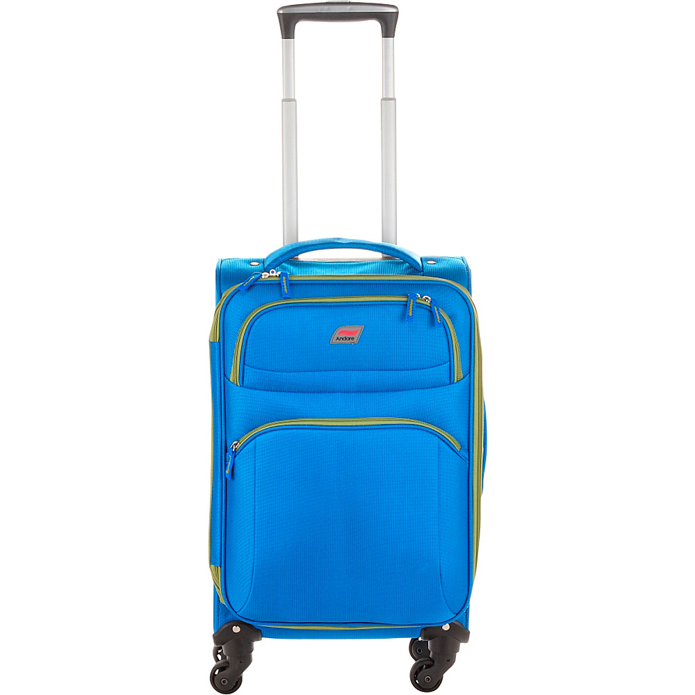 Andare Buenos Aires 20 4 Wheel Spinner Upright Cobalt Andare Softside Carry On
