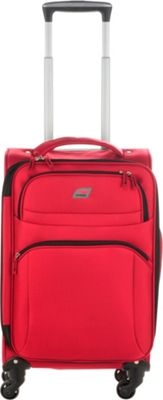 Andare Buenos Aires 20 inch 4 Wheel Spinner Upright Garnet - Andare Softside Carry-On