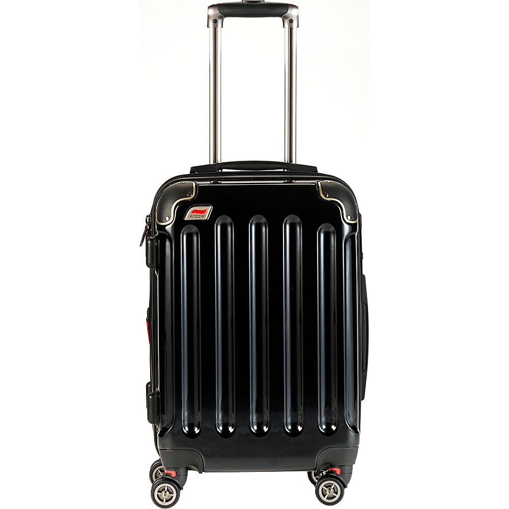 Andare Barcelona 20 8 Wheel Spinner Upright Onyx Andare Hardside Carry On