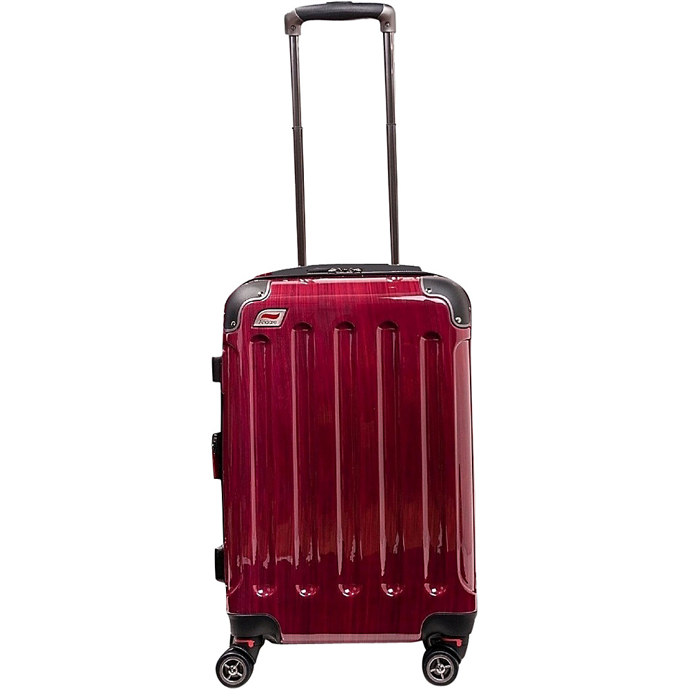 Andare Barcelona 20 8 Wheel Spinner Upright Ruby Andare Hardside Carry On