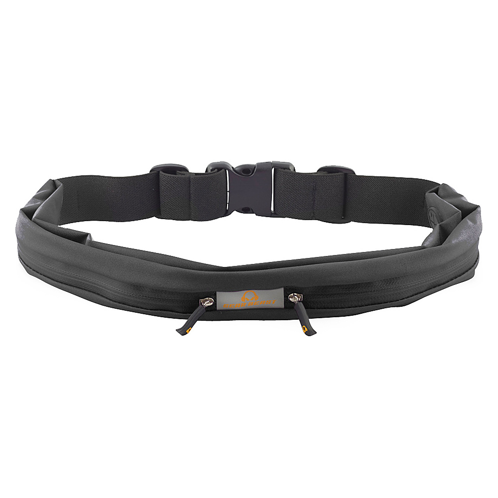 Gear Beast Dual Pocket Waist Pack Running Belt Black Gear Beast Wearable Technology