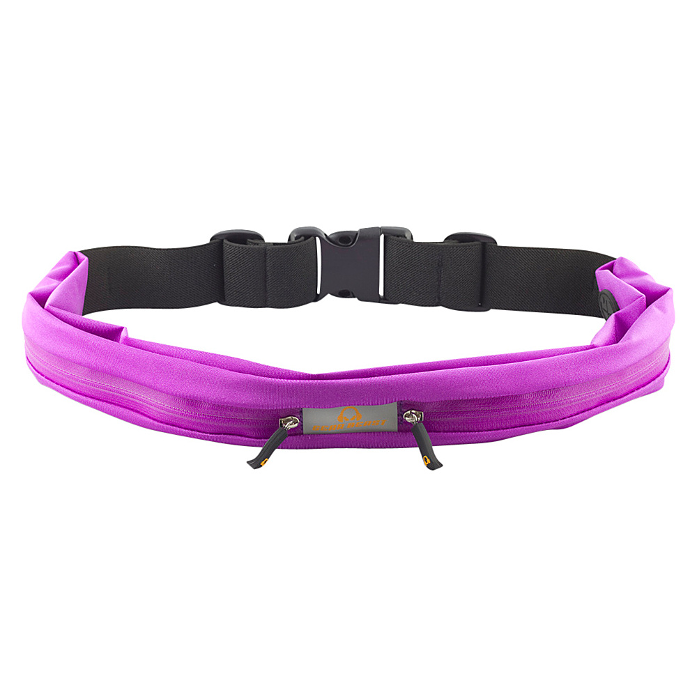 Gear Beast Dual Pocket Waist Pack Running Belt Purple Gear Beast Wearable Technology