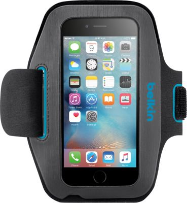 Belkin Sport-Fit Armband for iPhone 6/6s Gravel/Topaz - Belkin Electronic Cases