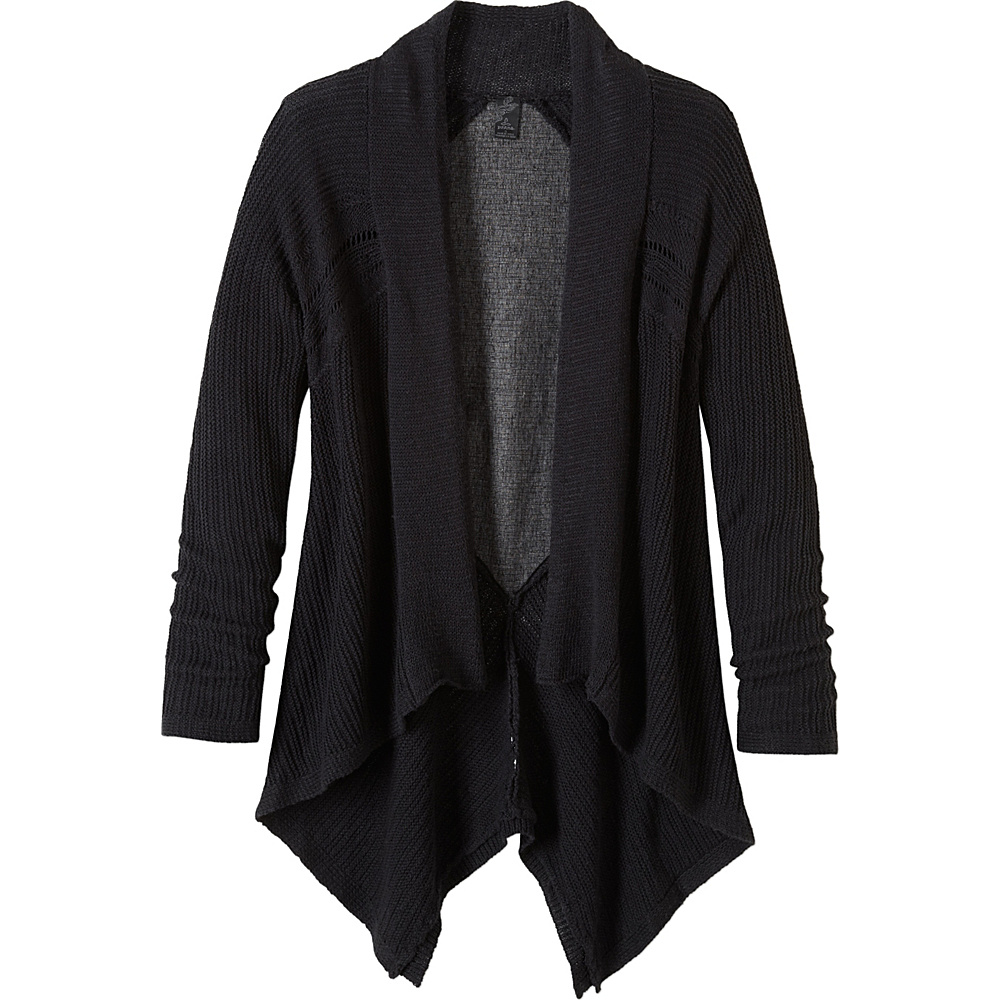 PrAna Diamond Sweater Cardi S - Black - PrAna Womens Apparel - Apparel & Footwear, Women's Apparel