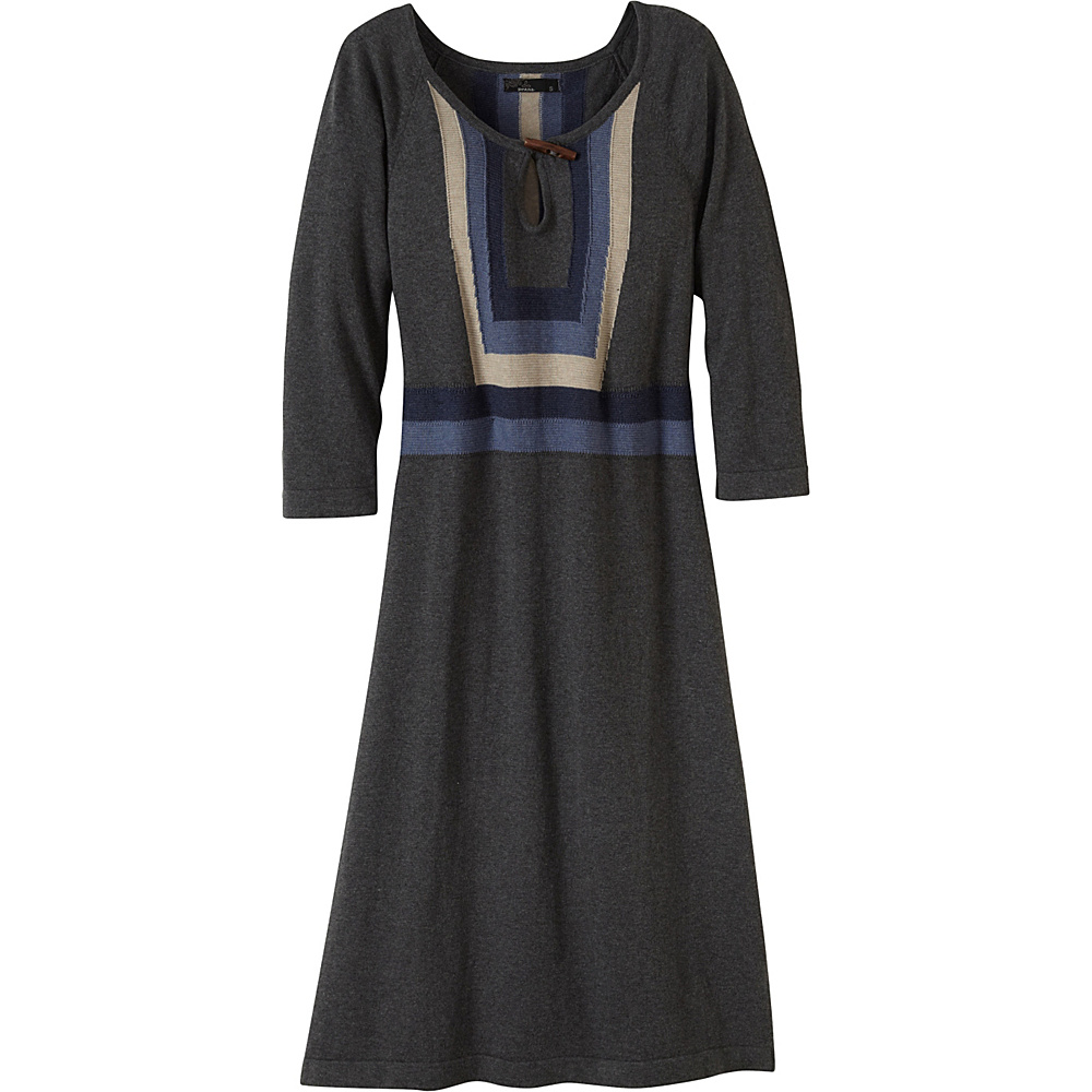 PrAna Yarrah Dress L - Charcoal - PrAna Womens Apparel - Apparel & Footwear, Women's Apparel