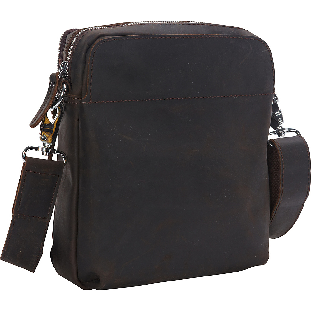 Vagabond Traveler Cowhide Leather Messenger Shoulder Bag Dark Brown - Vagabond Traveler Messenger Bags - Work Bags & Briefcases, Messenger Bags