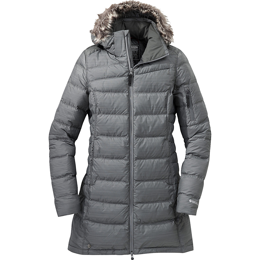 Outdoor Research Womens Fernie Down Parka XS - Pewter - Outdoor Research Womens Apparel - Apparel & Footwear, Women's Apparel