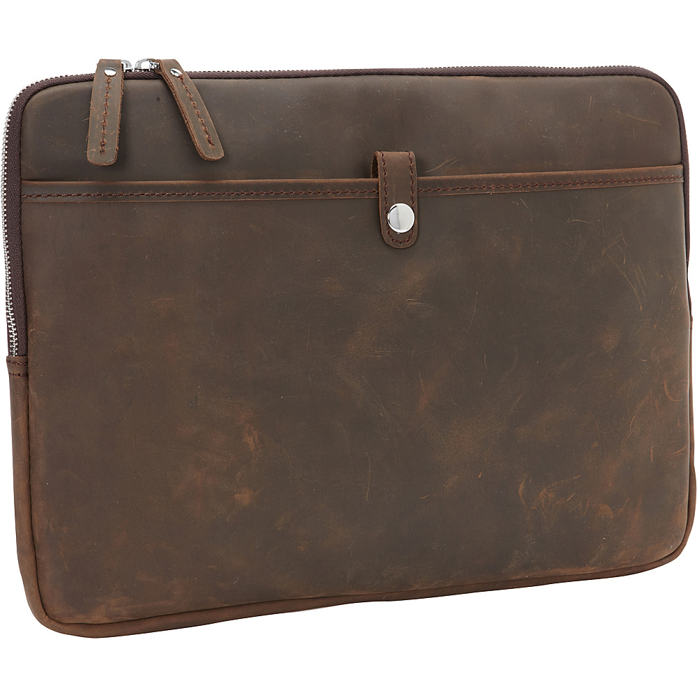 Vagabond Traveler 15 MacBook Pro Full Grain Leather Sleeve Distress - Vagabond Traveler Electronic Cases - Technology, Electronic Cases