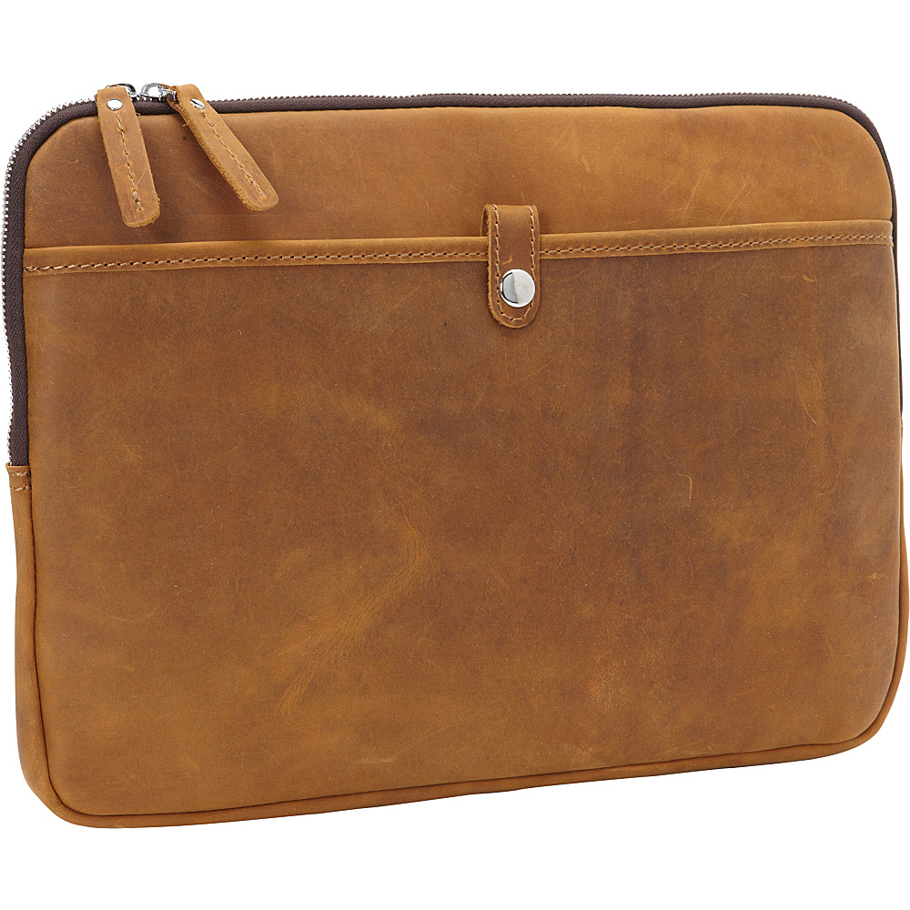 Vagabond Traveler 15 MacBook Pro Full Grain Leather Sleeve Vintage Brown - Vagabond Traveler Electronic Cases - Technology, Electronic Cases
