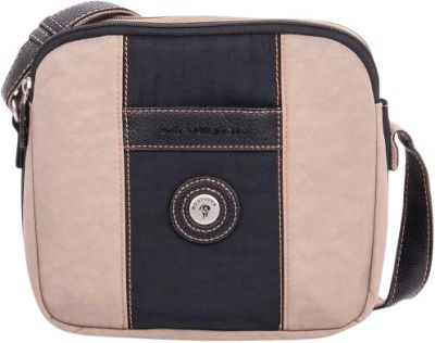 Mouflon Original RFID Bicolore Small Crossbody Black/Taupe - Mouflon Original Fabric Handbags
