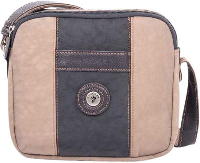 Mouflon Original RFID Bicolore Small Crossbody Grey/Taupe - Mouflon Original Fabric Handbags