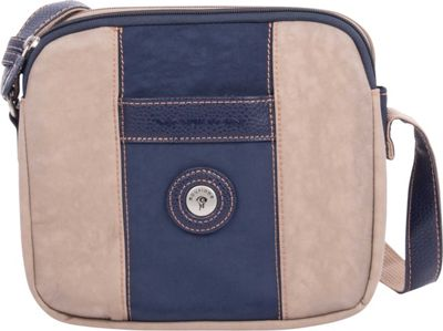 Mouflon Original RFID Bicolore Small Crossbody Navy/Taupe - Mouflon Original Fabric Handbags