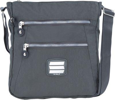 Suvelle Go-Anywhere Crossbody Grey - Suvelle Fabric Handbags