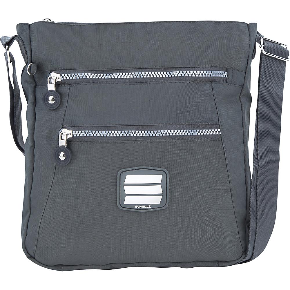 Suvelle Go Anywhere Crossbody Grey Suvelle Fabric Handbags
