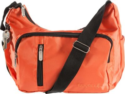 Suvelle Suvelle Slouch Travel Everyday Shoulder Bag Orange - Suvelle Fabric Handbags