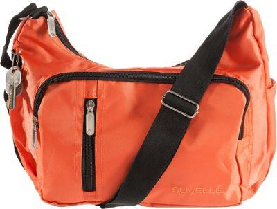 Suvelle Slouch Travel Everyday Shoulder Bag Orange - Suvelle Fabric Handbags