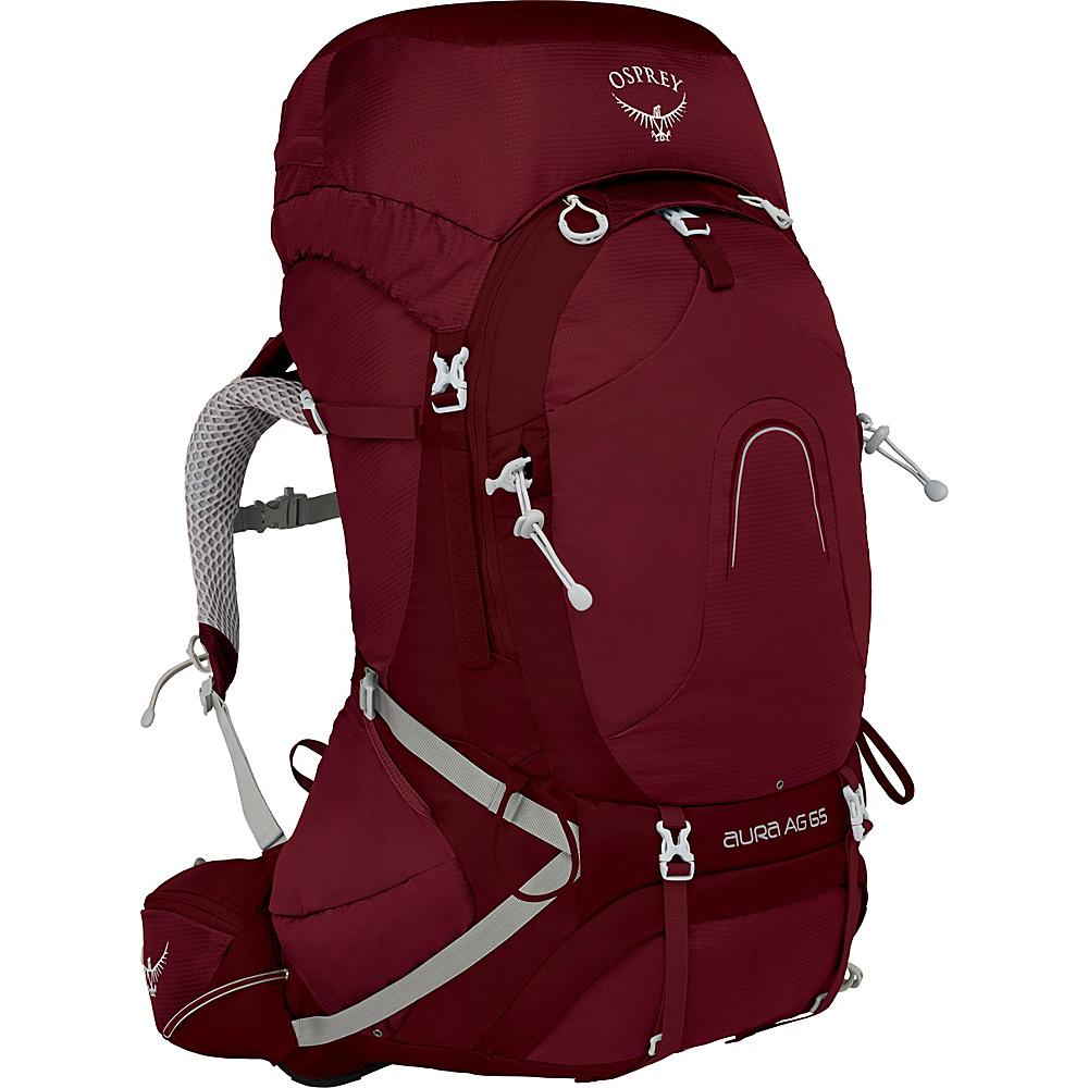 Osprey Aura AG 65 Backpack Gamma Red – MD - Osprey Backpacking Packs - Outdoor, Backpacking Packs