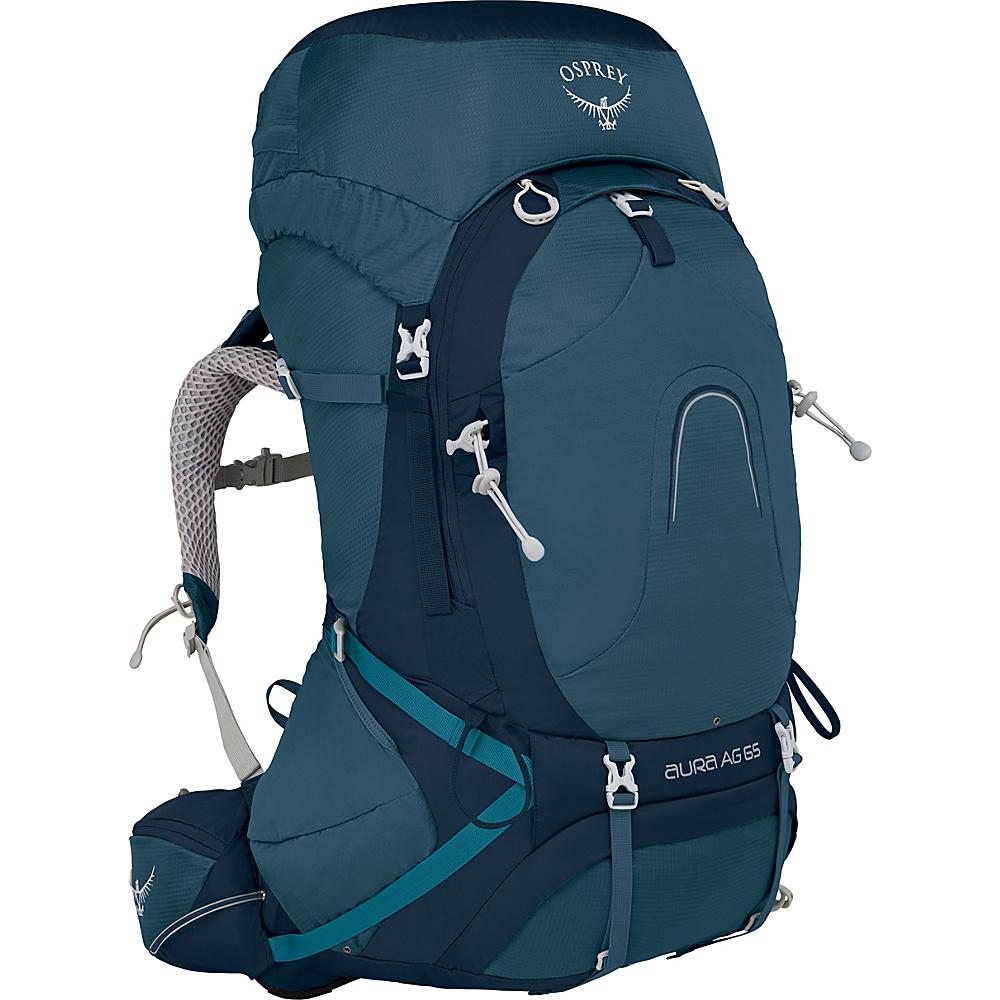 Osprey Aura AG 65 Backpack Challenger Blue – SM - Osprey Backpacking Packs - Outdoor, Backpacking Packs
