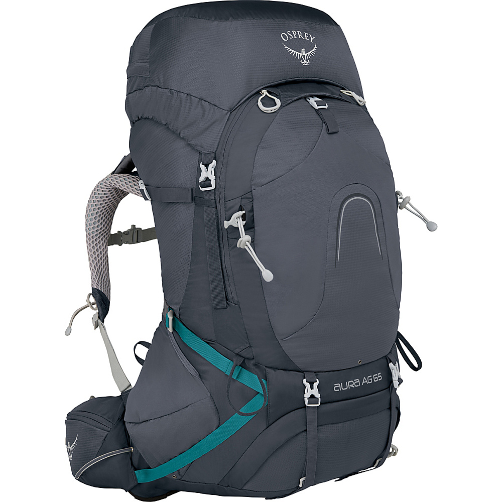 Osprey Aura AG 65 Backpack Vestal Grey – XS - Osprey Backpacking Packs - Outdoor, Backpacking Packs