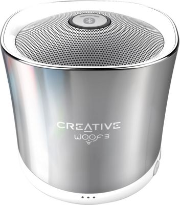 Creative Labs Woof3 Portable Wireless Speaker Chrome - Creative Labs Headphones & Speakers