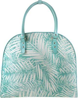 Tara's Travelers Palm Travel Duffel Palm Turquoise - Tara's Travelers Rolling Duffels