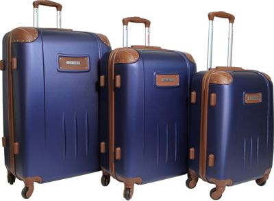 Dejuno Quest 3-Piece Hardside Spinner Luggage Set Navy - Dejuno Luggage Sets