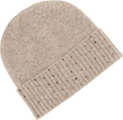 Kinross Cashmere Crystal Hat One Size - Mink - Kinross Cashmere Hats/Gloves/Scarves