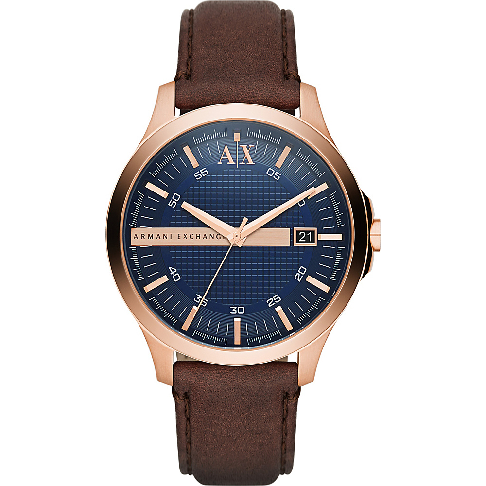 A X Armani Exchange Hampton Watch Brown A X Armani Exchange Watches