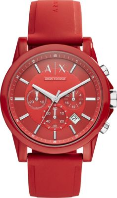 A/X Armani Exchange Active Watch Red - A/X Armani Exchange Watches