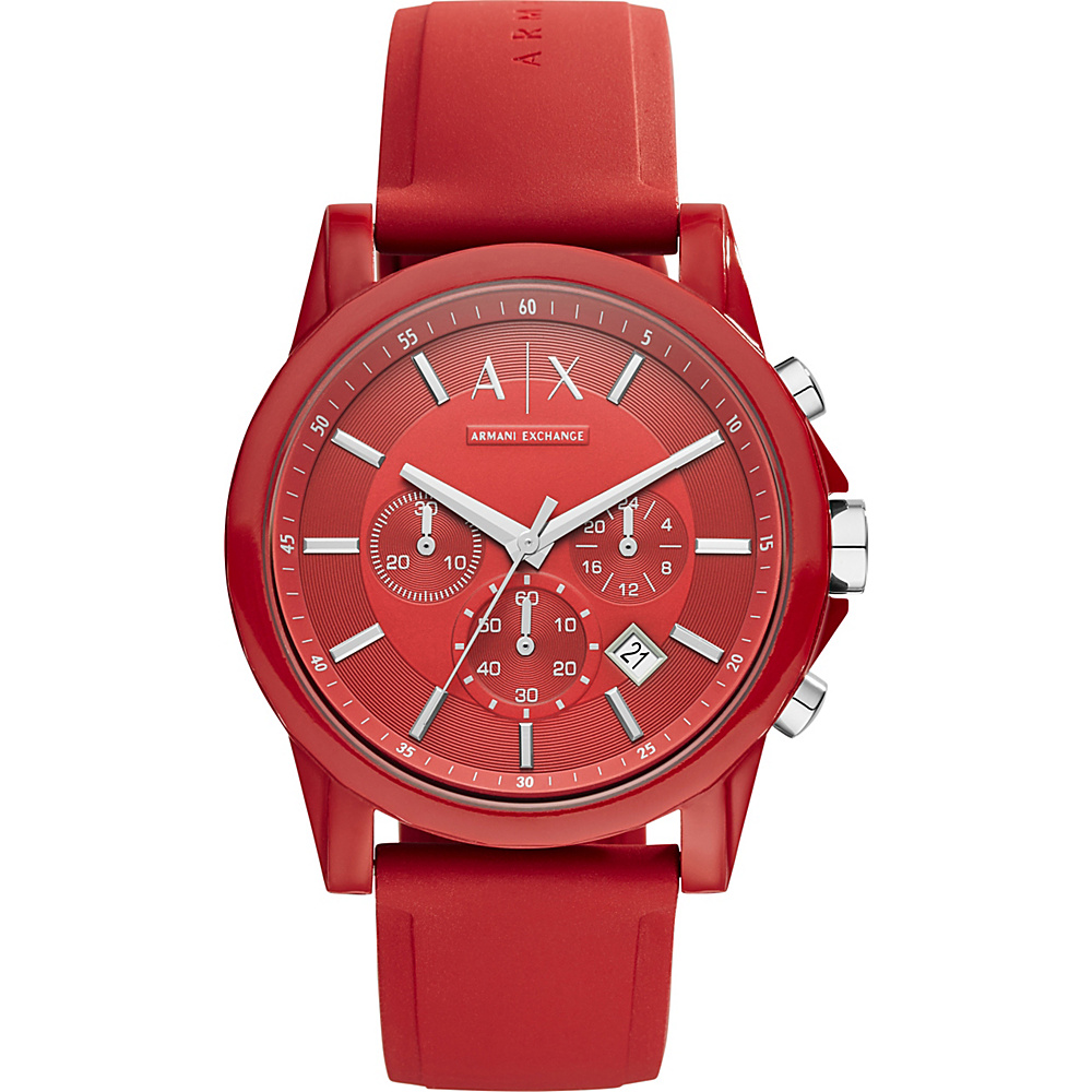 A X Armani Exchange Active Watch Red A X Armani Exchange Watches